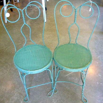 Furniture At Hatch Hatcharthouse - Antique Ice Cream Parlor Table And Chairs  Antique Furniture - Antique - Antique Ice Cream Parlor Chairs Antique Furniture
