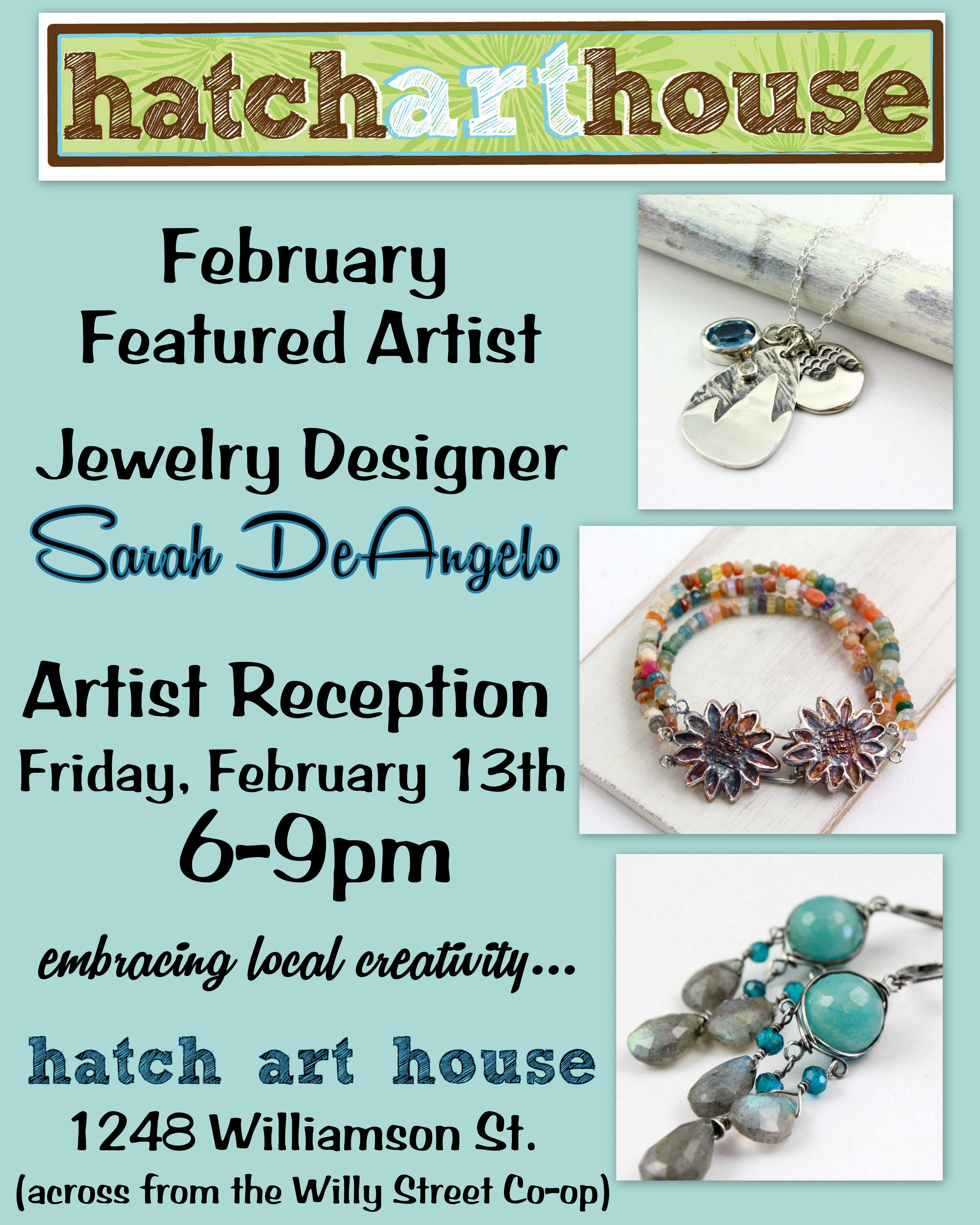 February Featured Artist Jewelry designer Sarah DeAngelo